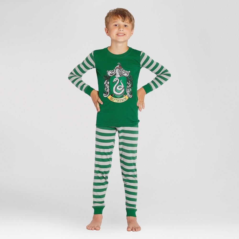 Boys' Harry Potter Slytherin 2pc Pajama Set - Green 6, Multicolored