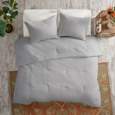 3pc King/California King Sula Cotton Comforter Set Gray