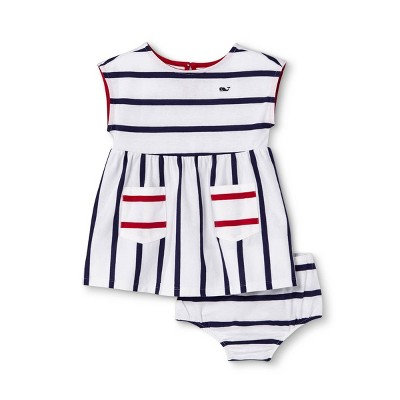 Baby Sleeveless Striped Crewneck Dress - Navy/White 3-6M - vineyard vines® for Target