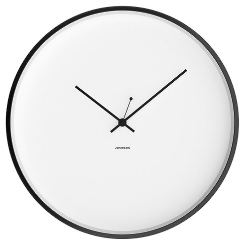 "12"" Round Wall Clock White/Black - JONSSON Timeware® - image 1 of 3"