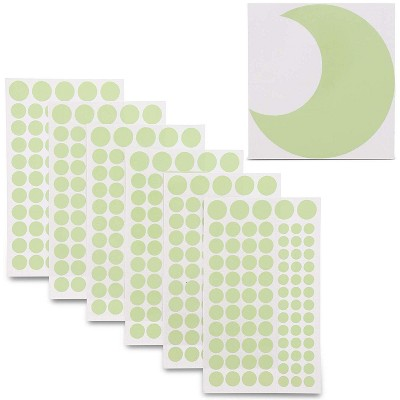 Bright Creations 504 Pack Glow in The Dark Stars Moon Home Wall Stickers, Adhesive Dots for Ceiling Decor