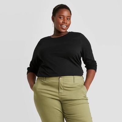 Women's Plus Size Long Sleeve T-Shirt - Ava & Viv™