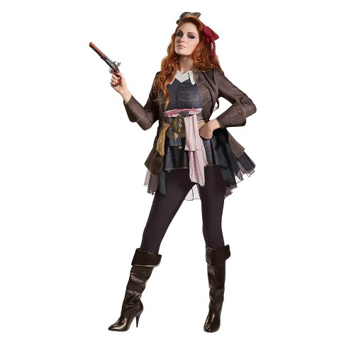 Women's Pirates of the Caribbean Captain Jack Female Deluxe Costume Kit - image 1 of 1