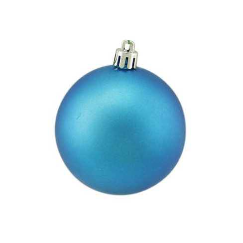 """Vickerman 2.75"""" Matte Drilled Shatterproof Christmas Ball Ornament - Turquoise - image 1 of 1"""