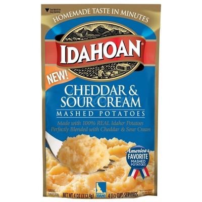 Idahoan Cheddar & Sour Cream Mashed Potatoes - 4oz