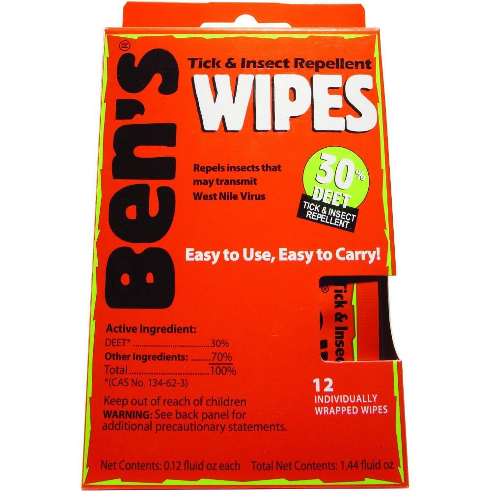 Image of Ben's 30 Deet Wipes - 12ct