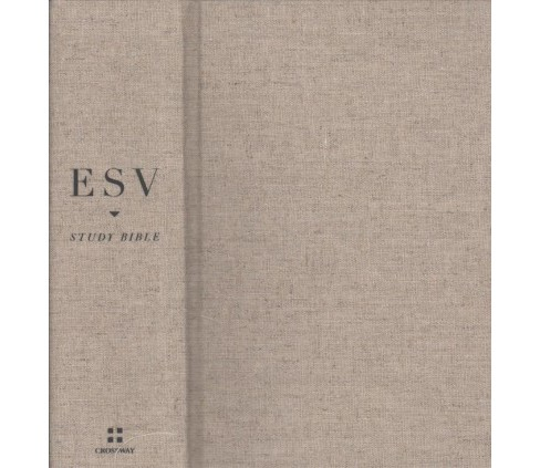 ESV Study Bible : English Standard Version, Tan, Cloth over Board, Personal Size (Hardcover) - image 1 of 1