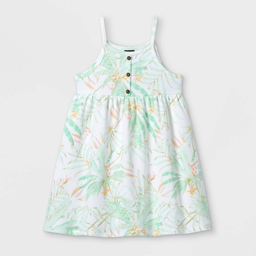 Toddler Girls 39 Rib Henley Tank Dress Art Class 8482 Blue 4t