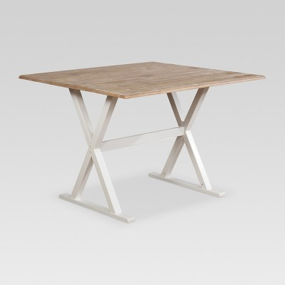 "40"" Square Drop Leaf Rustic Dining Table - Threshold™"