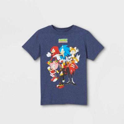 Boys' Sonic the Hedgehog Team Up Short Sleeve T-Shirt - Navy