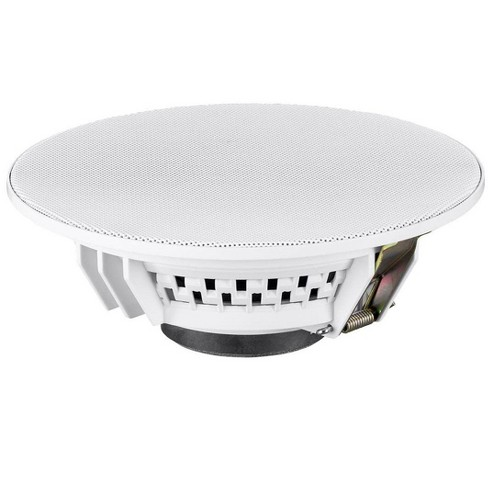 Monoprice Commercial Audio Metro Ceiling Paging Speaker 70/100V (Single) - 6.5in With Aluminum Grille, Up to 101dB ±3dB Sound Pressure Level - image 1 of 4