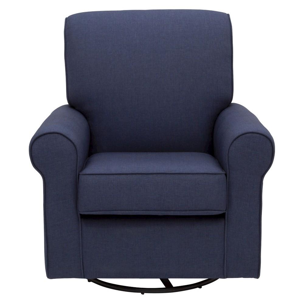 Image of Delta Children Avery Nursery Glider Swivel Rocker Chair - Sailor Blue