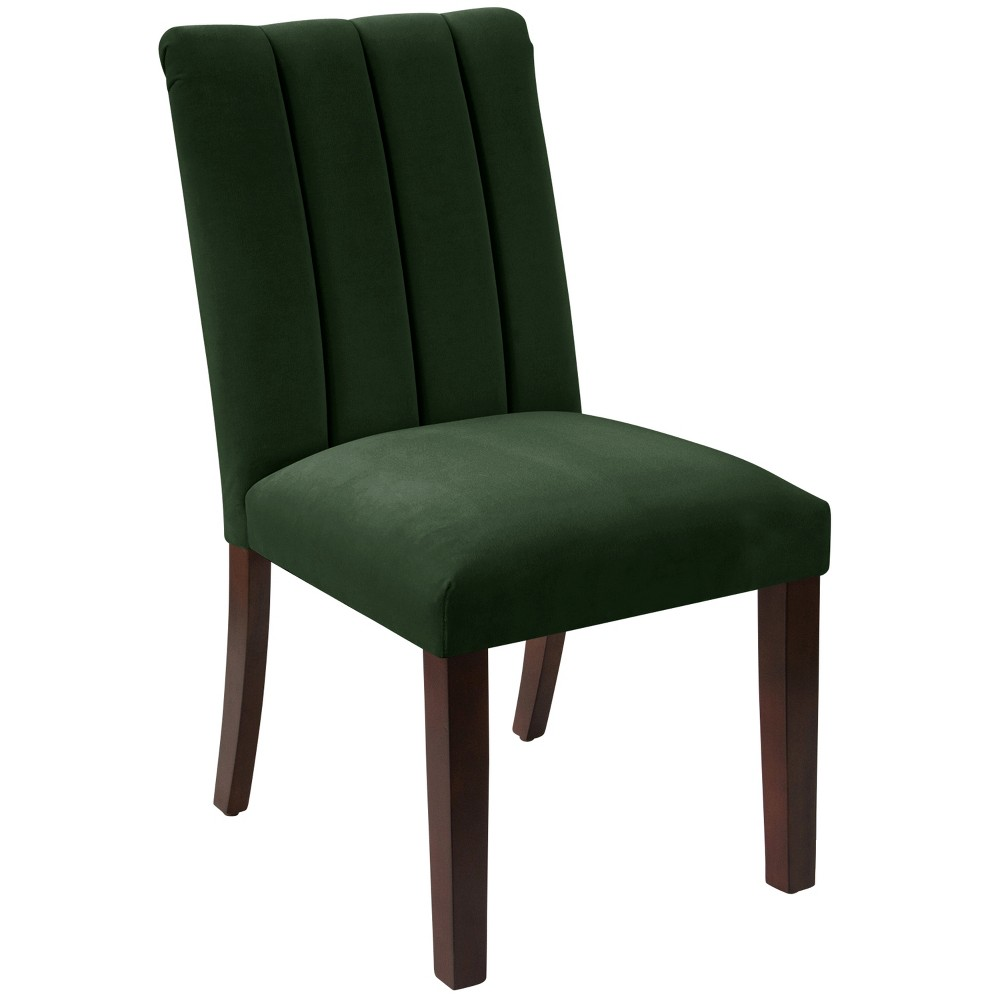 Channel Seam Dining Chair Fauxmo Emerald - Skyline Furniture