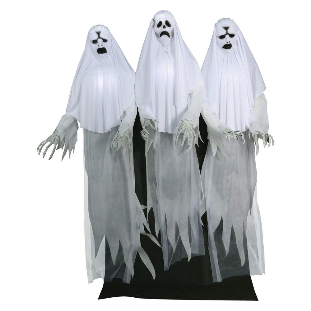 72 Halloween Animated Haunting Ghost Trio, Multi-Colored