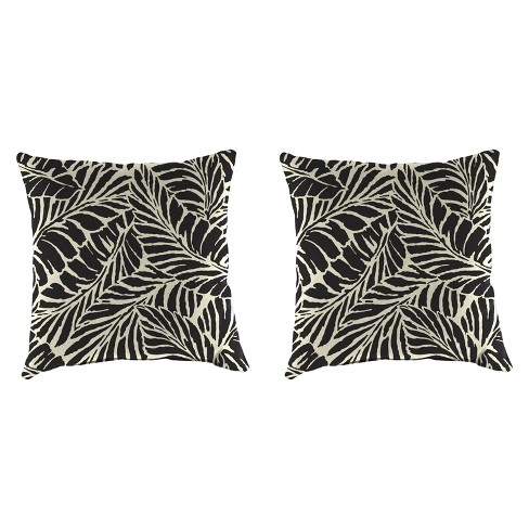 Outdoor Set Of 2 Accessory Toss Pillows In Malkus Black  - Jordan Manufacturing - image 1 of 1
