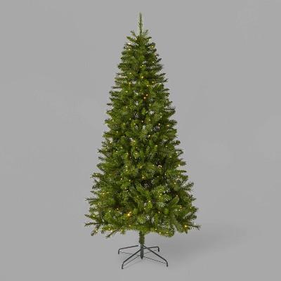 7ft Pre-Lit Douglas Fir Artificial Christmas Tree Bicolor LED Lights - Wondershop™