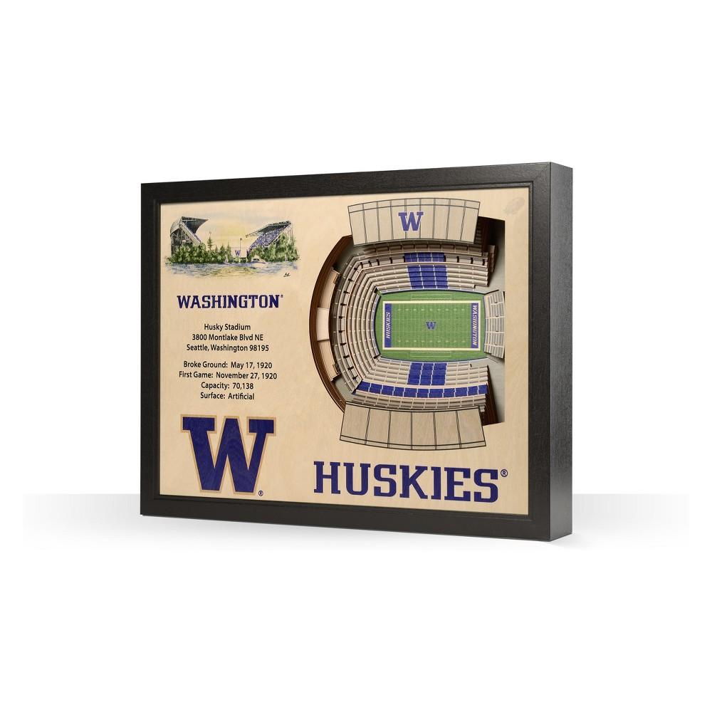 NCAA Washington Huskies 25 Layer Stadiumviews 3D Wall Art