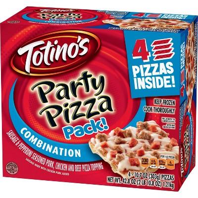 Totino's Combination Sausage & Pepperoni Frozen Party Pizza - 41.6oz/4pk