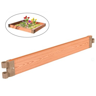 Classic Traditional Durable Wood- Look Raised Outdoor Garden Bed Flower Planter Box