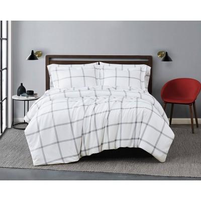 Truly Soft Printed Windowpane Comforter Set