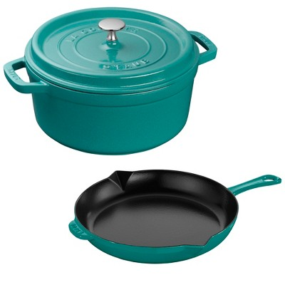 Staub Cast Iron 3-pc Cocotte and Fry Pan Set
