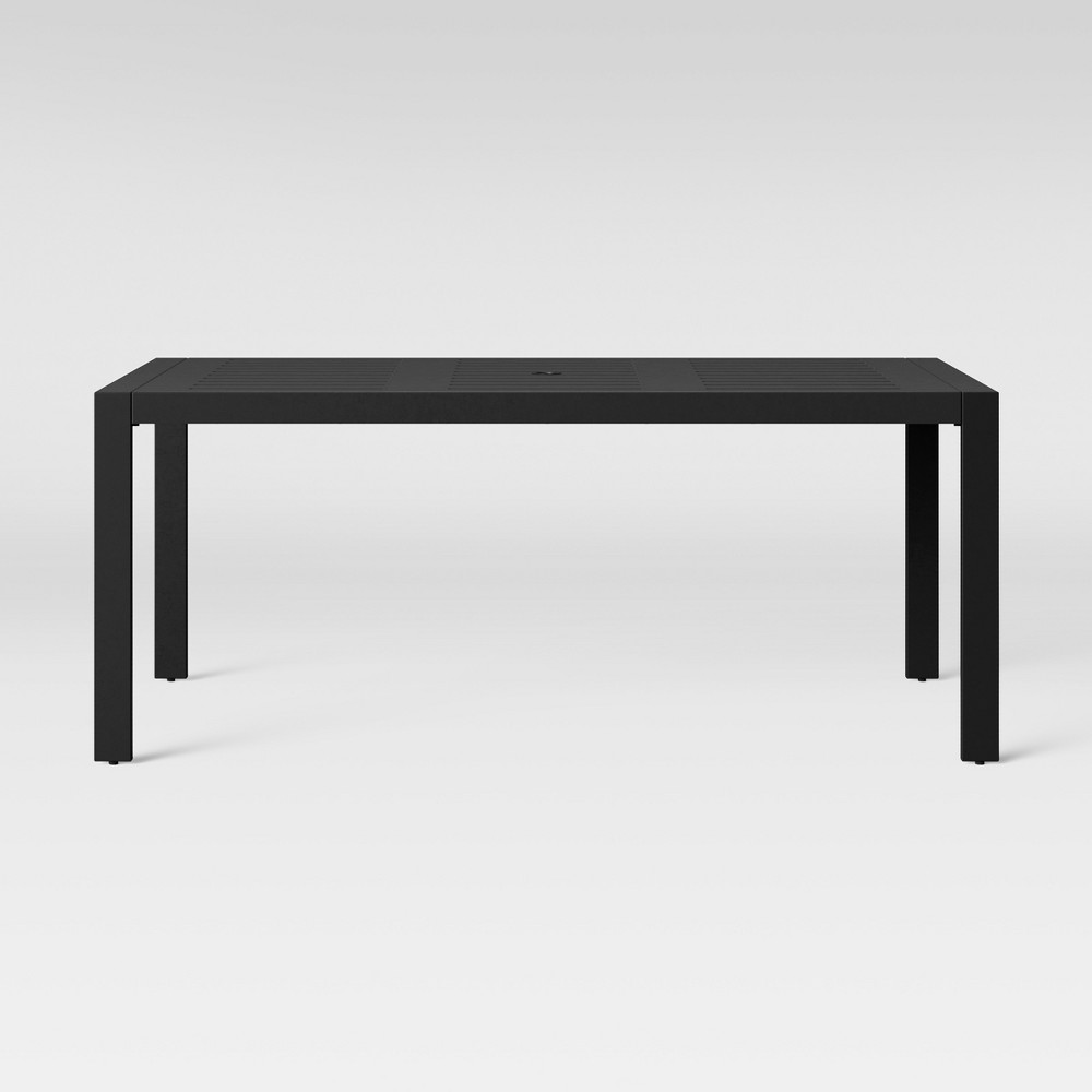 Henning 6-Person Patio Dining Table Black - Project 62