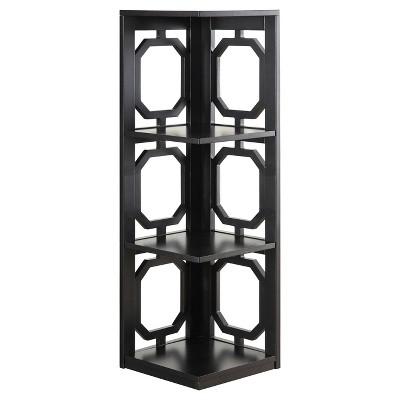 """Omega 3 Tier Corner Bookcase 38.5"""" - Convenience Concepts®"""