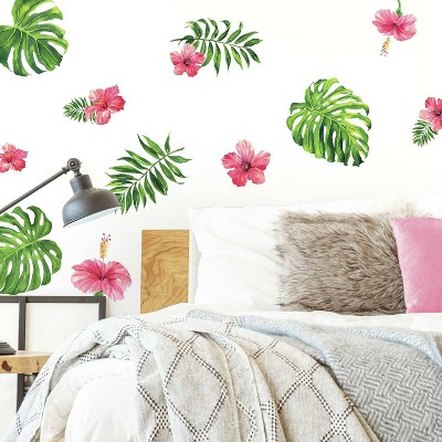 Tropical Hibiscus Flower Peel and Stick Wall Decal - RoomMates