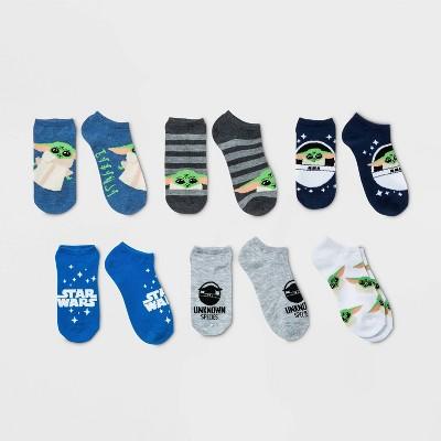 Girls' Star Wars 6pk Baby Yoda Socks - S/M