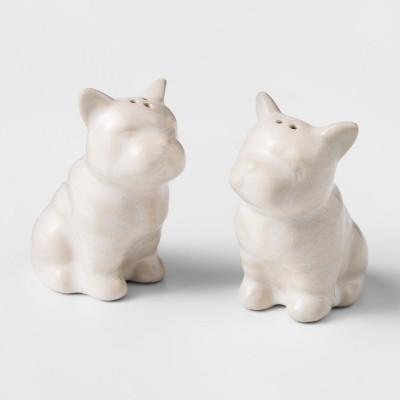 Cravings by Chrissy Teigen Set of 2 French Bulldog Salt & Pepper Shakers White
