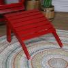 Classic Wood Adirondack Ottoman - Red - Sunnydaze Decor - image 3 of 3