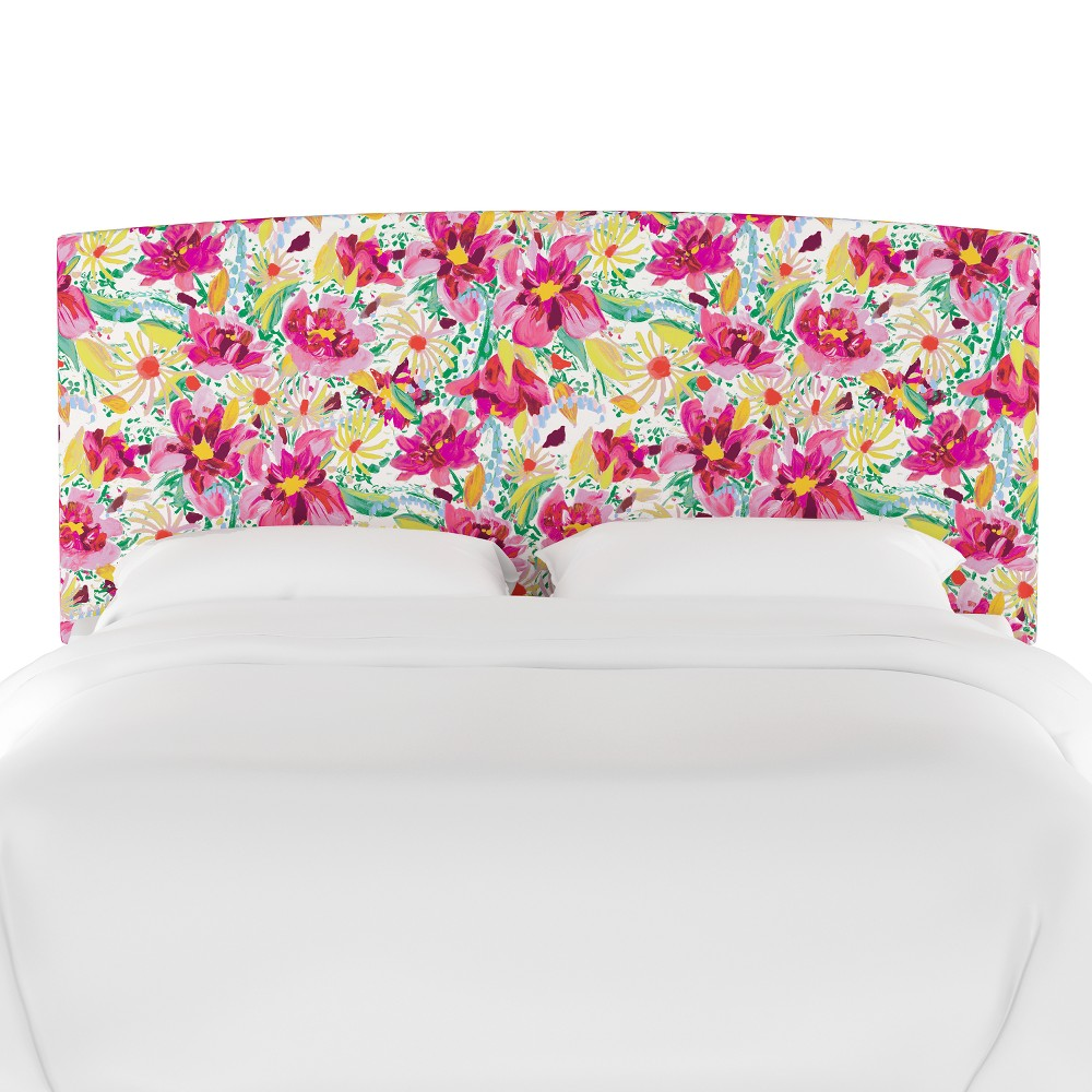 Upholstered Headboard King Bright Floral Blush - Opalhouse
