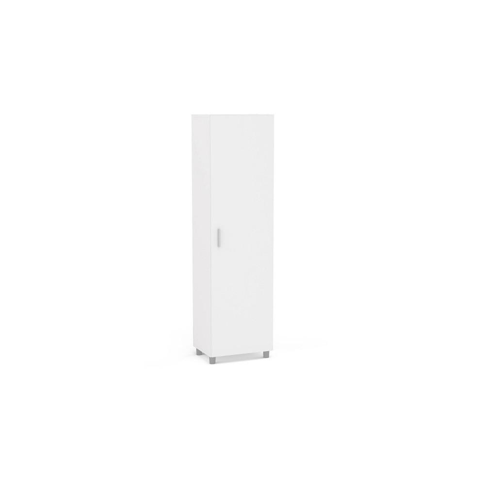 Image of Beverly 4 Shelf Storage Cabinet White - Chique