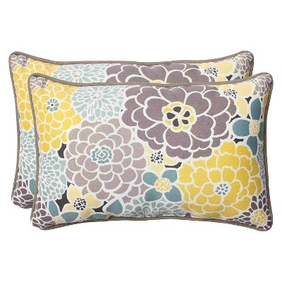 Pillow Perfect ™ 2 Piece Outdoor Lumbar Pillows   Lois : Target