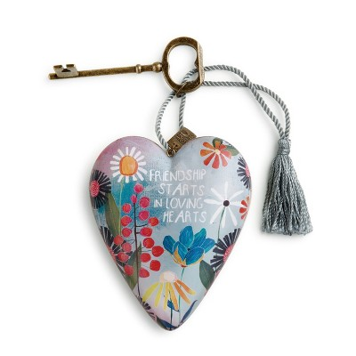 "DEMDACO Friendship Loving Hearts Art Heart 4"" - Blue"