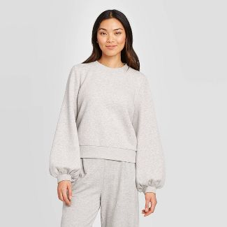 Women's Crewneck Pullover - A New Day™ Gray XXL