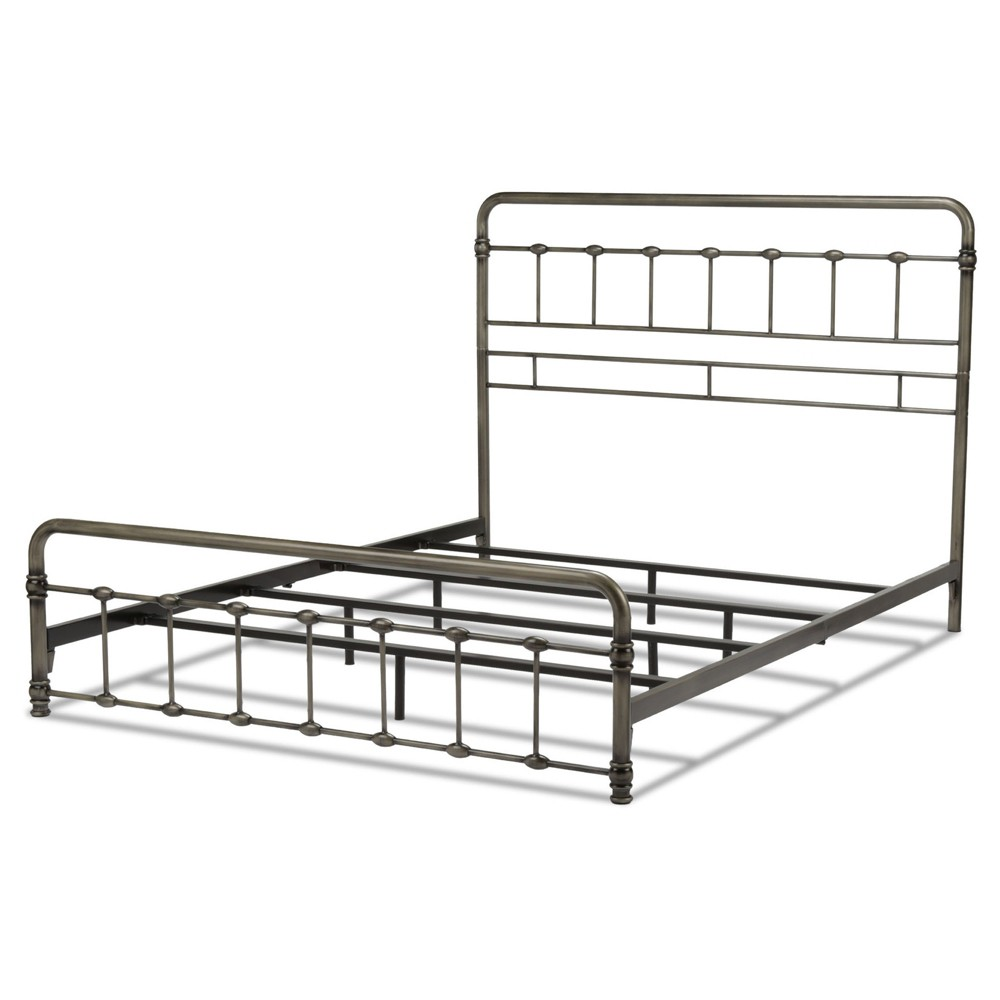 Fremont Bed - Weathered Nickel - Full - Fashion Bed Group, Silver