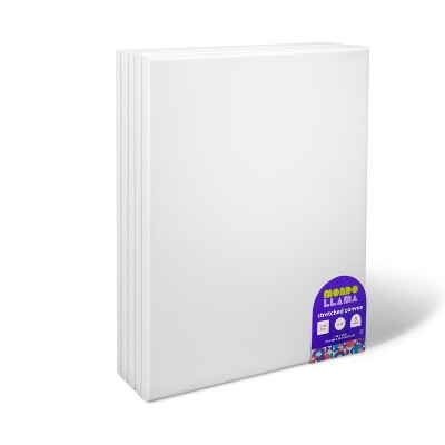 "5pk 11""x14"" Stretched Canvas White - Mondo Llama™"