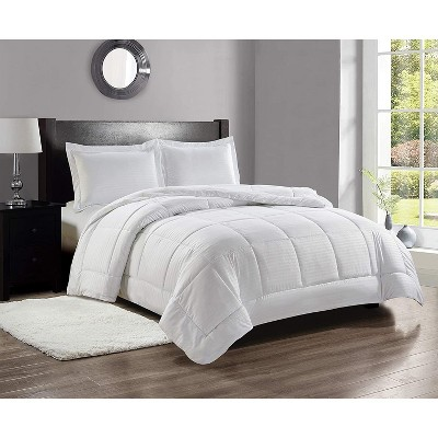 """Bliss Home 1 Piece Down Alternative Reversible Comforter  Size Queen (86"""" x 86"""") - White"""