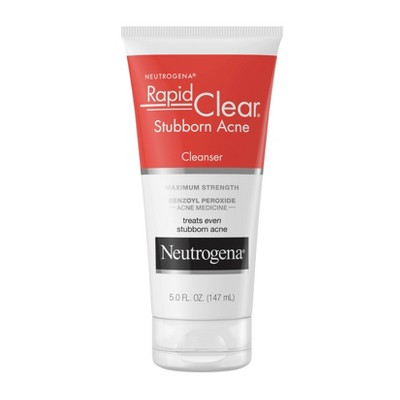 Neutrogena Rapid Clear Stubborn Daily Acne Facial Cleanser - 5 fl oz