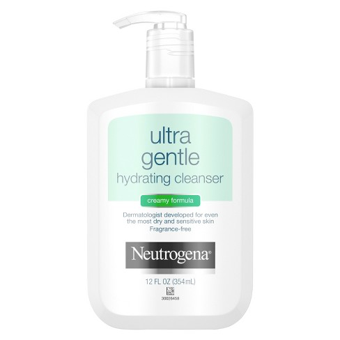 Unscented Neutrogena Ultra Gentle Hydrating Creamy Facial Cleanser - 12 fl oz - image 1 of 3