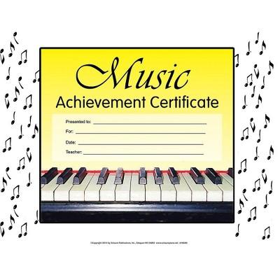 SCHAUM Music Achievement Certificate Educational Piano Series