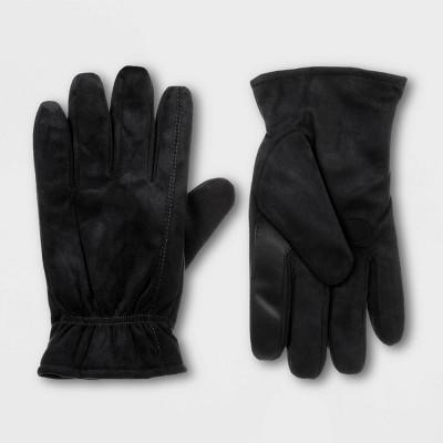 Isotoner Men's Microsuede Gloves - Black