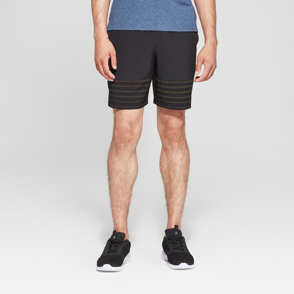 Men's Color Block Run Shorts - C9 Champion Black L