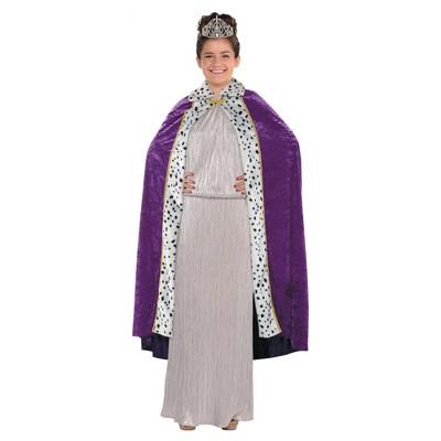 Queen Cape Halloween Costume Purple