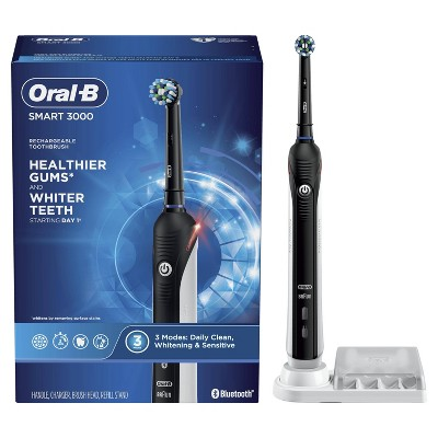 Oral-B Smart 3000 Electric Toothbrush with Bluetooth Connectivity - Black Edition Powered by Braun
