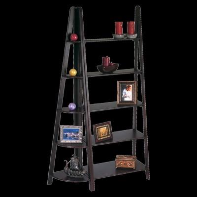 '73'' 5 Shelf Corner Bookcase Espresso - OSP Home Furnishings'