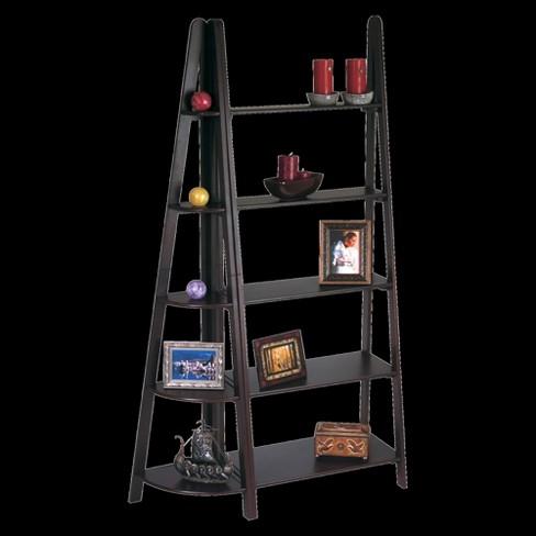 73 5 Shelf Ladder Bookcase Espresso