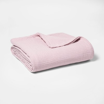 King Gauze Bed Blanket Pink - Threshold™