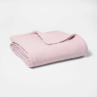 Twin Gauze Bed Blanket Pink - Threshold™